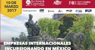 """Desayuno """"Empresas Internacionales incursionando en México"""" - 10 de marzo, México"""