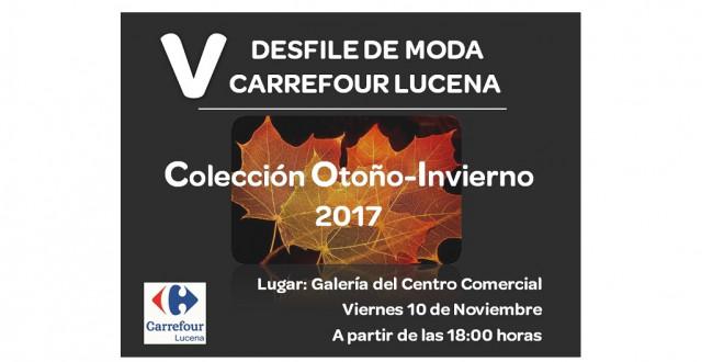 DESFILE DE MODA LUCENA carrefour carmila 8-11-17