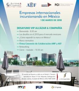 Invitación Desayuno México nueva fecha