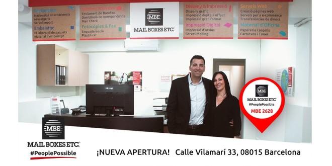 Nueva tienda Vilamarí Barcelona mba mail boxes 16-5-18
