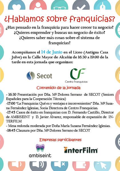 FLYER ALCAÑIZ centro franquicias 8-6-18 2