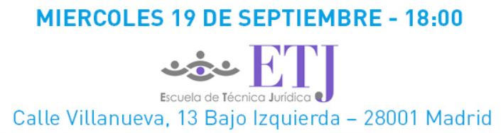 Feria Abogacía y servicios jurídicos localización acto presentación