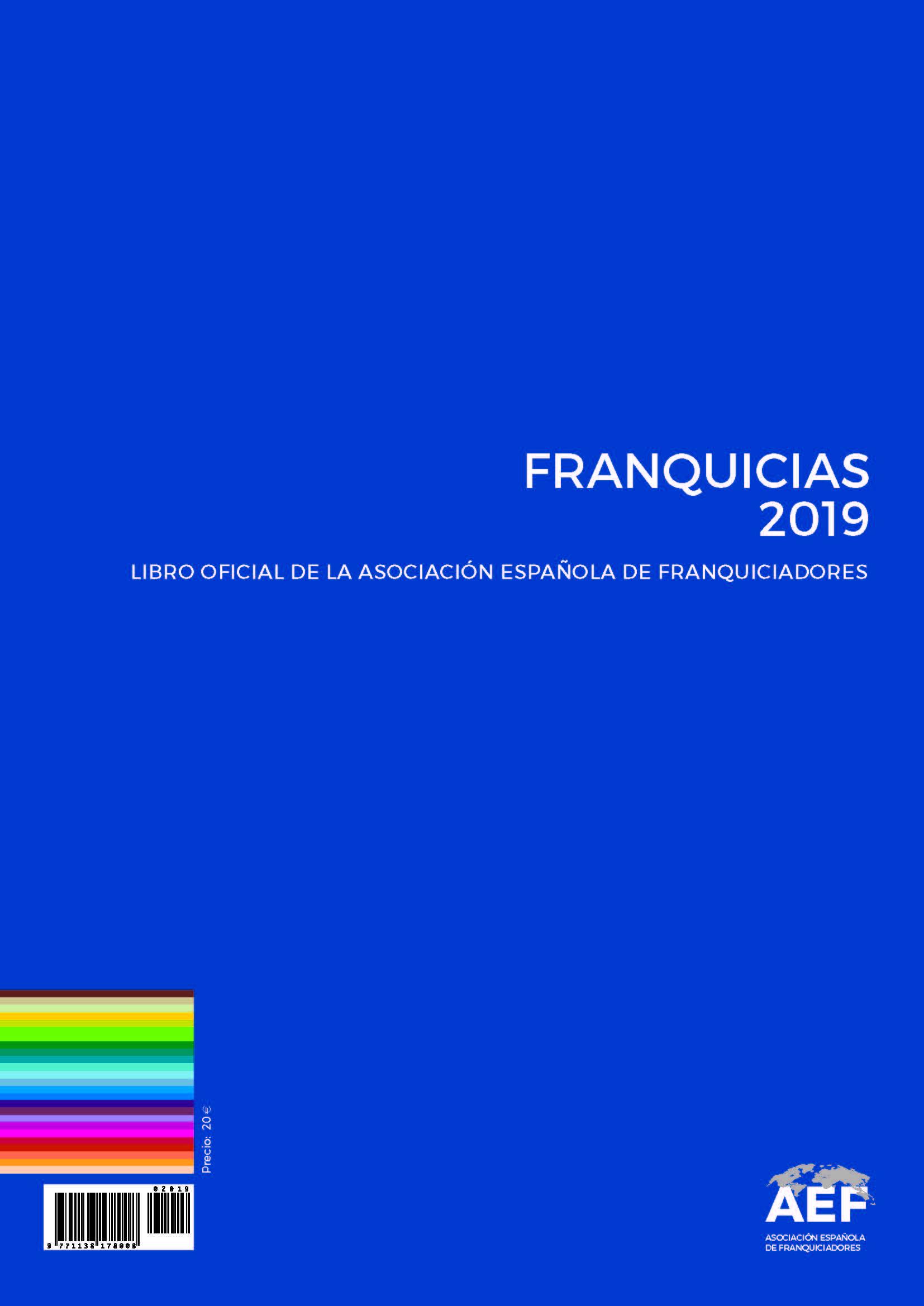 La AEF edita su Libro Oficial FRANQUICIAS 2019 Asociación