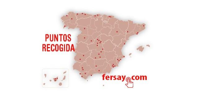 Mapa Puntos de recogida Fersay 11-9-19