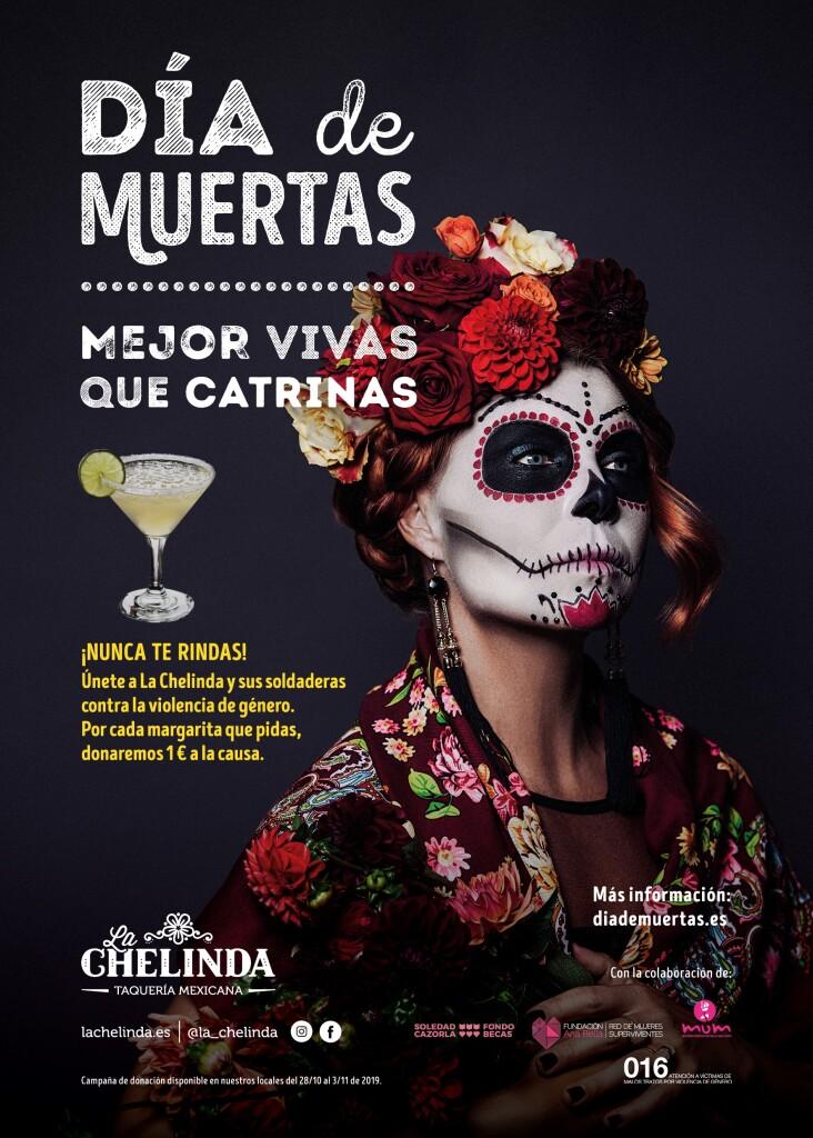 CARTEL LA CHELINDA DÍA DE MUERTAS 28-10-19