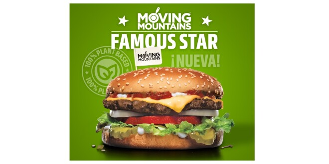 HAMBURGUESA FAMOUS STAR 100% PLANT BASED CARL'S JR. 28-10-19