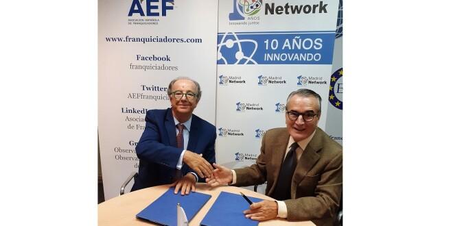 firma del acuerdo entre la AEF y Madrid Network 8-11-19