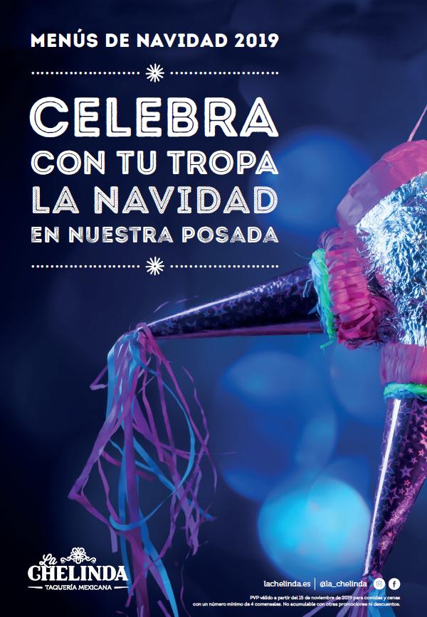 CARTEL MENÚS DE NAVIDAD 2019 la chelinda 13-12-19