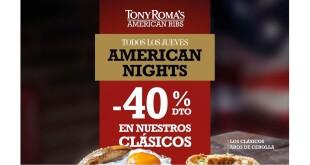 TODOS LOS JUEVES AMERICAN NIGHTS tony romas 24-1-20 2