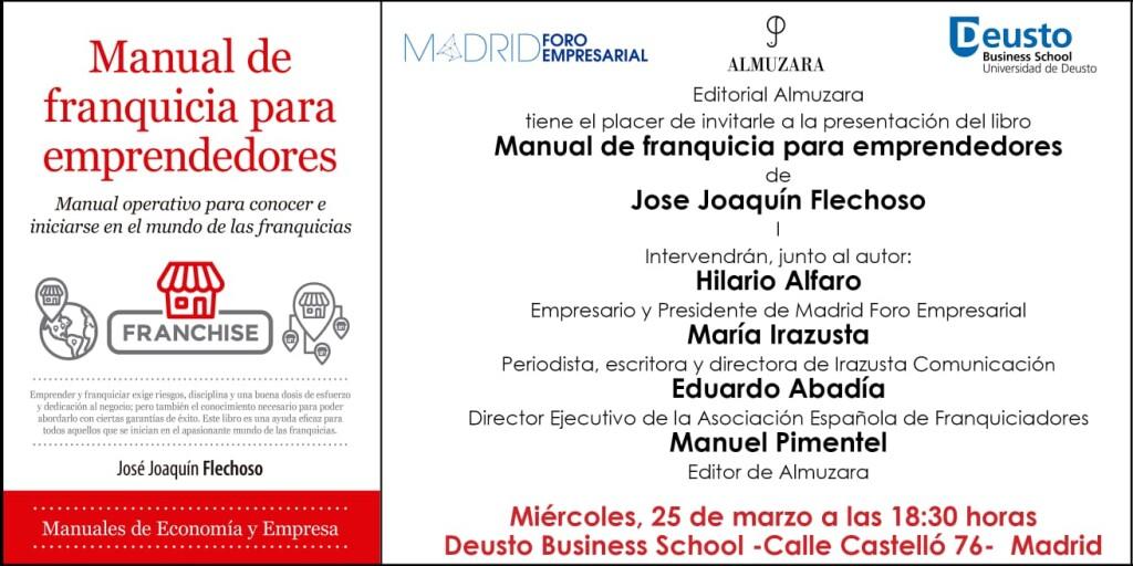 Invitación presentación libro Manuel Pimentel