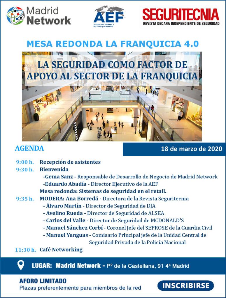 Programa jornada Seguridad AEF 18 marzo
