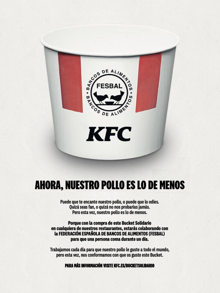 Bucket Solidario de KFC 25-5-20