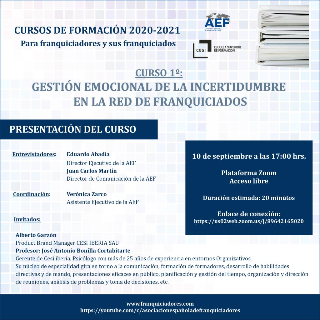 Presentación cursos AEF - CESI curso 1