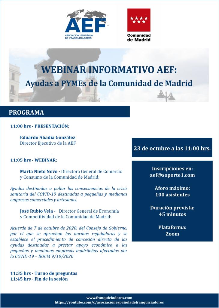 Webinar Ayudas Madrid