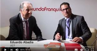 En la feria Expofranquicia que tuvo lugar del 20 al 22 de abril de 2017 entrevistamos a Eduardo Abadía, Director General de AEF, Asociación Española de Franquicias.