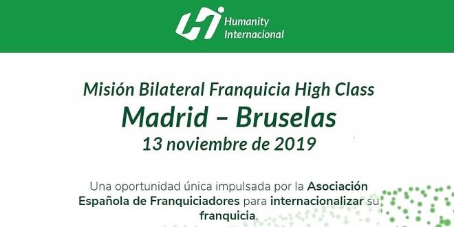 humanity internacional Misión Comercial Madrid-Bruselas 5-11-19